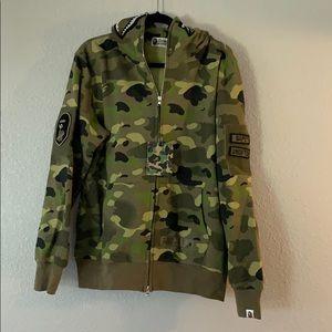 Camouflage Bape Jacket Hoddie